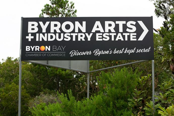 Byron Bay Industrial Precinct Sign image via Sustainable Valley 944x730